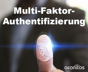 Fingerabdruck vom Finger Multi-Faktor-Authentifizierung