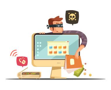Person klaut Daten vom Rechner