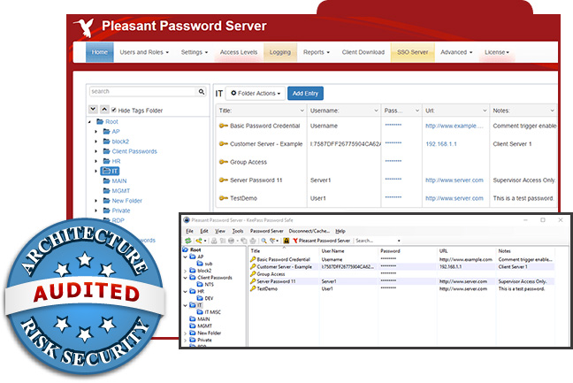 Passwortverwaltung Screenshot