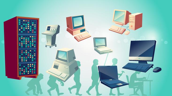 Zeitreise des Computers